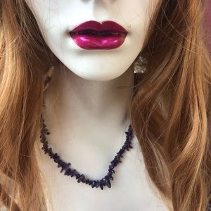 "17"" Amethyst chip necklace"